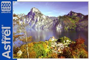 Пазл.2000А.4241Австрия Озеро в горах
