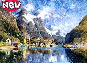 Clem(OLD).Пазл.2000К.32533 Норвежский фьорд