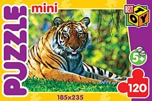 """Пазл-мини 120А.6415""""Тигры 1""""4в."""