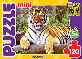 """Пазл-мини 120А.6417""""Тигры 3""""4в"""