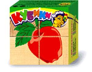 Рст.Т.Кубики Фрукты-ягоды 4шт.