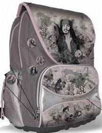 Рюкзак шк с клапаном,2-мя отделениями,3-мя карм.,ортопед.спинкой 40х31х19с