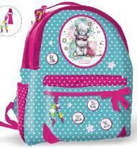 Рюкзак школьный с 3-мя карм, вент лямками, рег ручкой на застежках (40х31х15 см)
