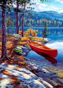 Clem(OLD).Пазл.1500К.31964 Озеро в горах