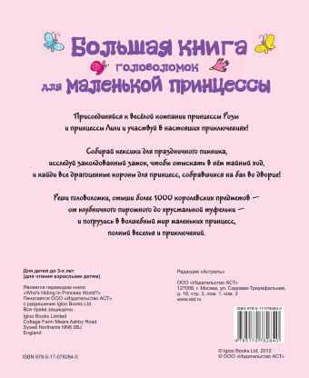Большая книга головоломок для маленькой принцессы