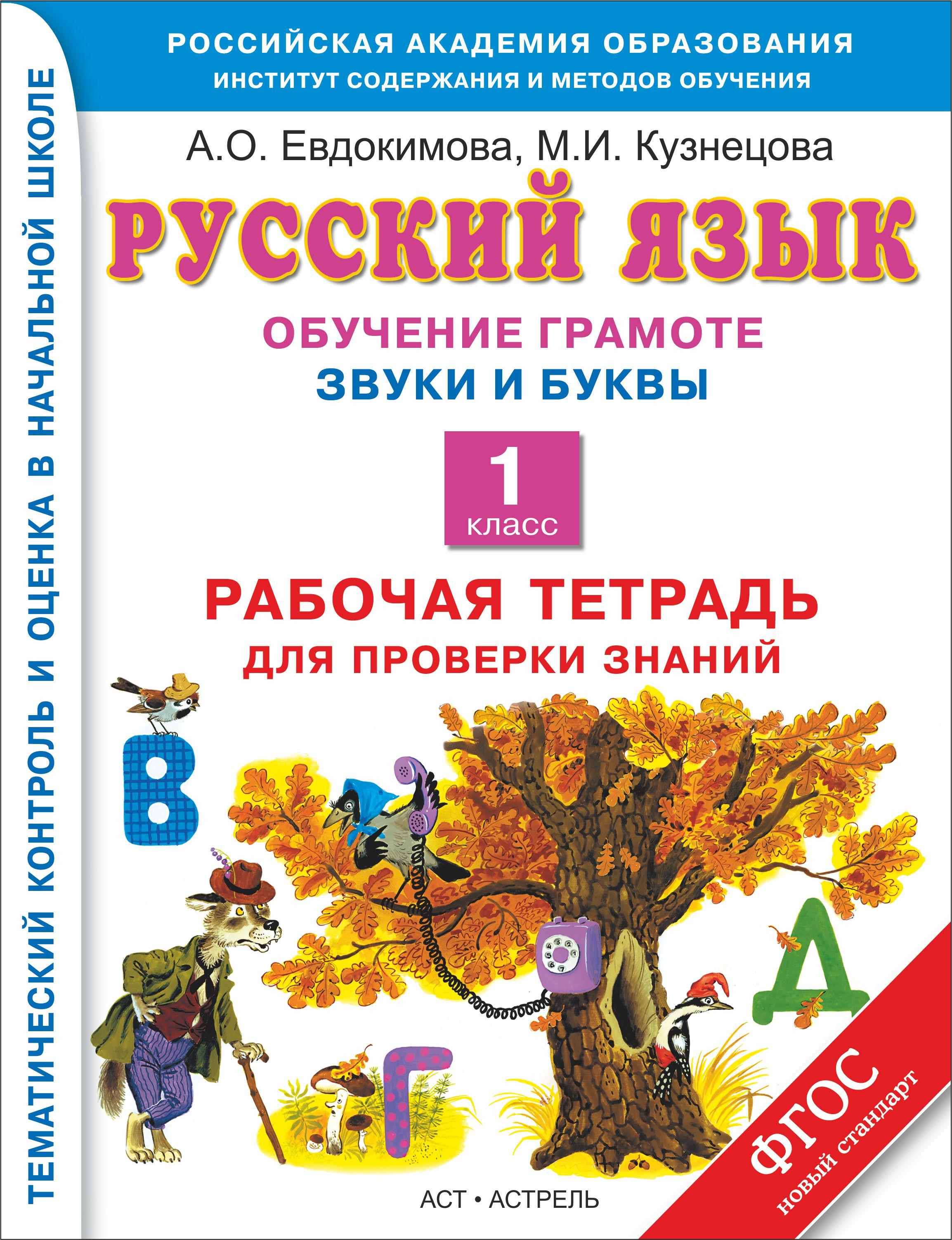 Русский язык. Обучение грамоте. Звуки и буквы. 1 класс. Рабочая тетрадь для проверки знаний