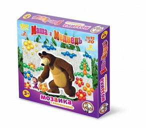 Наст.игр.:ДК.Мозаика Маша и медведь 10/15-20 ,105 ф., с аппликацией (РФИ) 01420