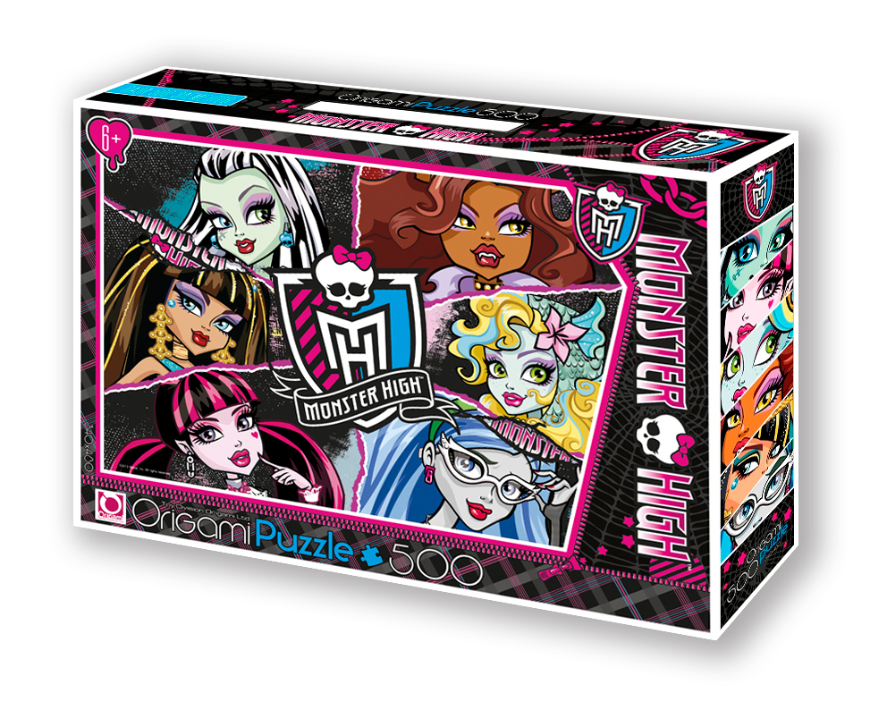 Monster High.Пазл.500A.Чем.05354+маркер с блёстками