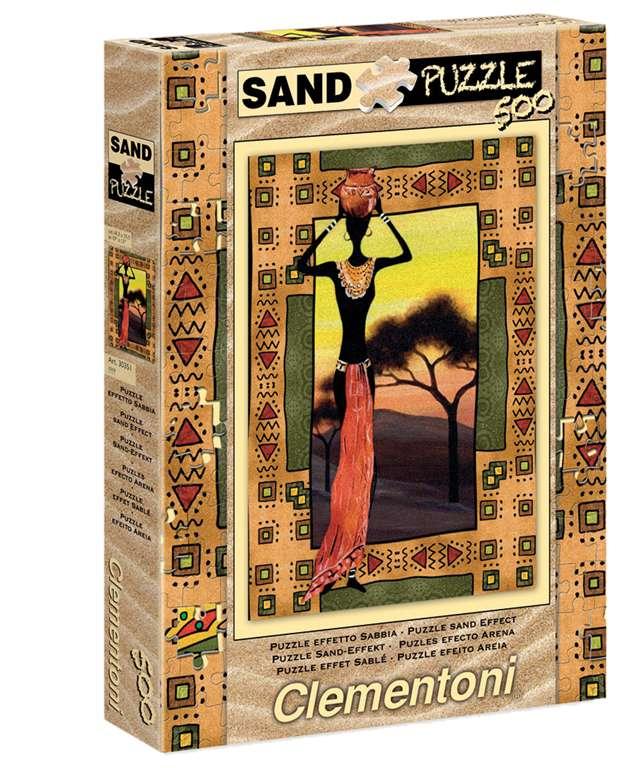 CLem.Пазл. 500эл. Песок.30353 Этнический паззл clementoni hq 500эл слоны песок 30350