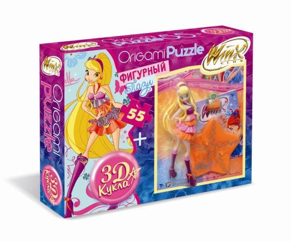 Винкс.3Д кукла+пазл 55 эл. Стелла. 01095