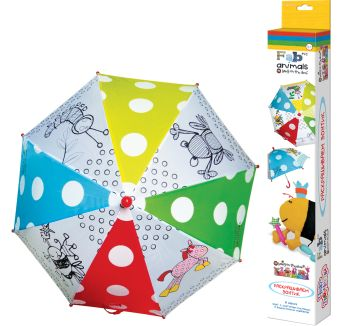 Чудо-Творчество. FABric animals. Зонтик для раскрашивания. Весёлые животные. арт. 00506