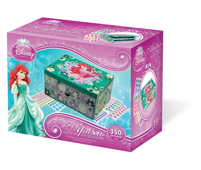 Мозаика-шкатулка. Дисней Принцесса. Ариель