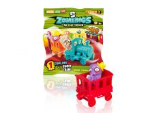 Фигурка. Zomlings in the town.  3 серия (1 фигурка + поезд) арт. ZM30301