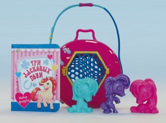 Набор фигурок в пластиковой сумочке Три ласковые пони