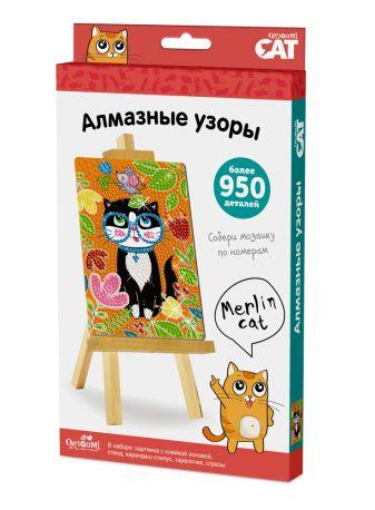 Origami Cat. Алмазные узоры. Merlin Cat арт. 03208