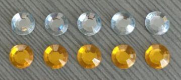 ПФ набор страз 6 мм, 10шт. два цвета. Арт.00735 - фото 1