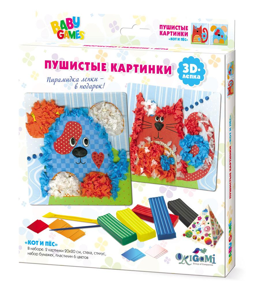 Для Малышей. 3D-лепка Пушистые картинки. Кот и Пес. арт 03263 fisher price 3d лепка пушистые картинки лев и жираф
