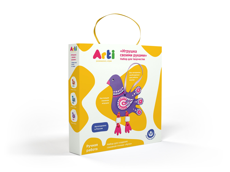 Arti.Набор для создания глиняной птички Арчи
