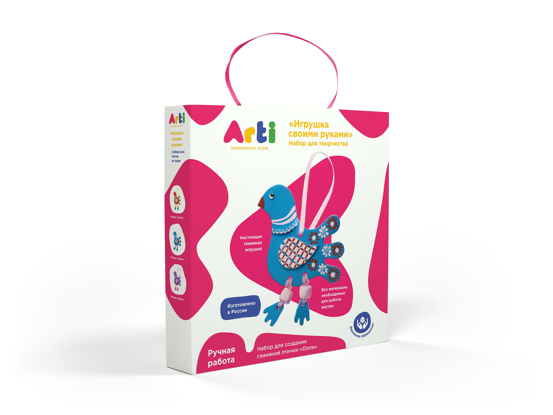 Arti.Набор для создания глиняной птички Олли