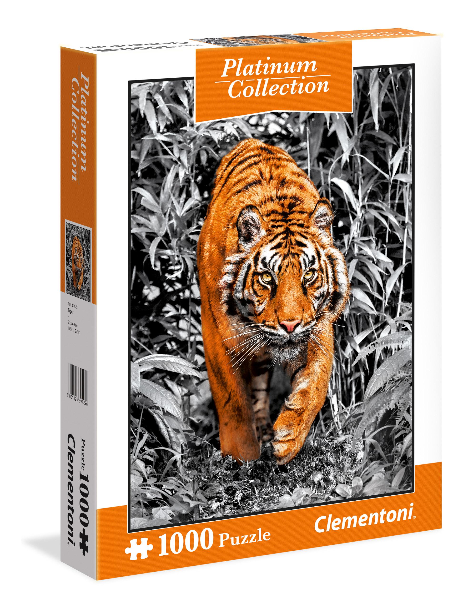 CLem.Пазл. 1000эл. Платиновая коллекция.39429 Тигр