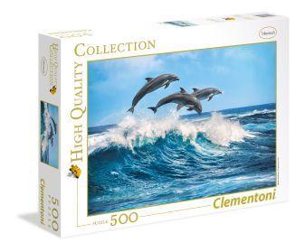 Пазл 500 эл. Дельфины