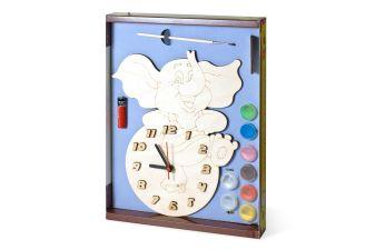 Часы с циферблатом под роспись. Слоник