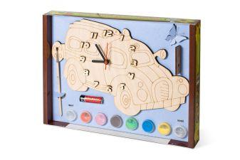 Часы с циферблатом под роспись. Машинка