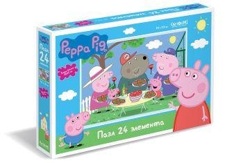 Пазл 24 эл. Свинка Пеппа. Отдых на природе