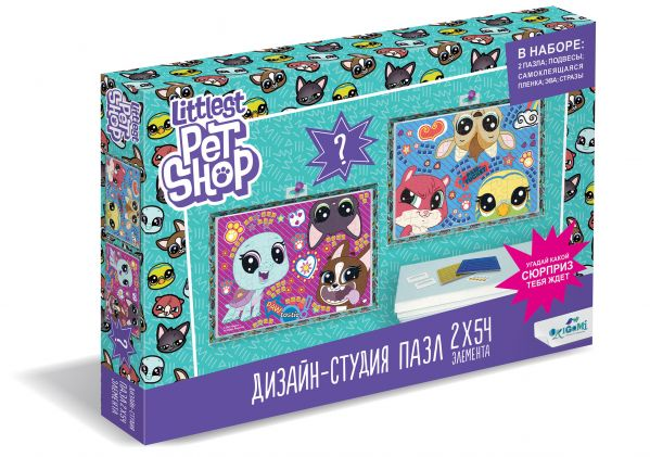 Пазл 54 эл. Диптих Littlest Pet Shop. Веселые времена пазл 54 эл диптих littlest pet shop город зверей