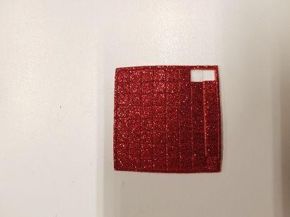 ПФ. EVA красный глиттер, малый. Арт. 04760 - фото 1