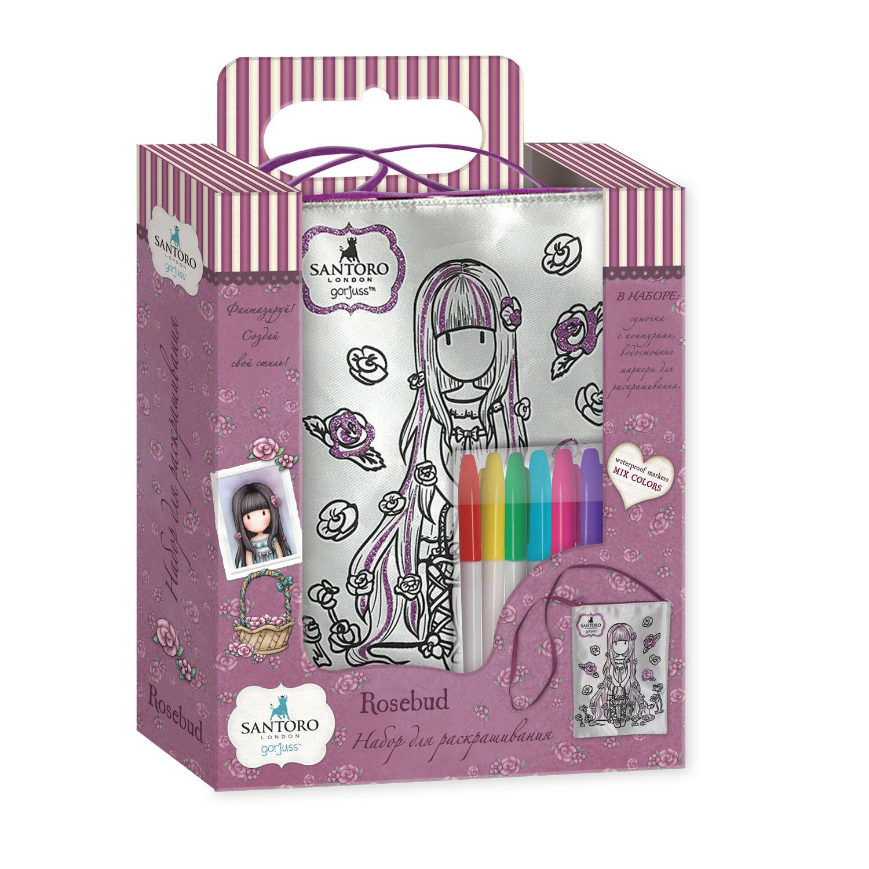 Santoro. Сумка прогулочная для раскрашивания арт. 04593 сумка для девочки santoro toadstools цвет синий 0012417