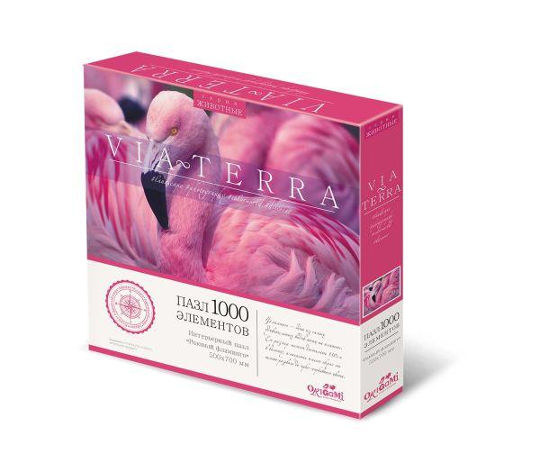 Пазл 1000 эл. Виа Терра. Розовый фламинго