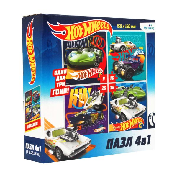 Hot Wheels.Набор.4в1 .9-16-25-36Эл.Суперкар.05853