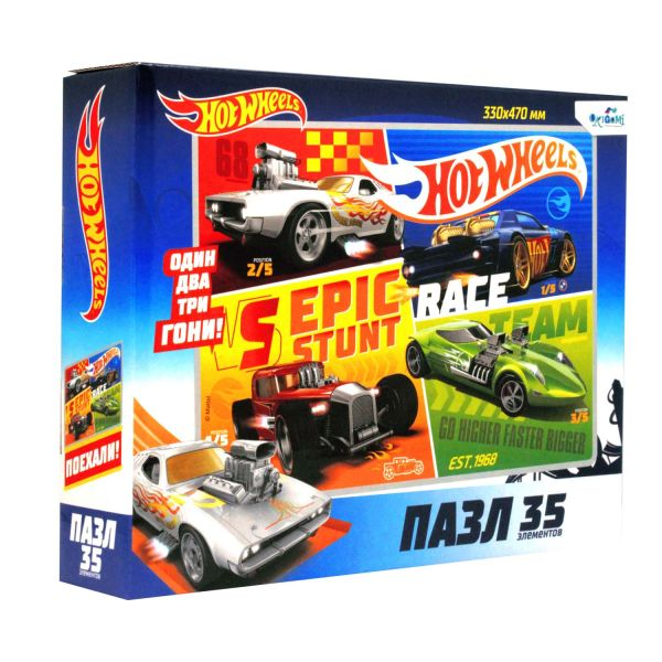 Hot Wheels.Пазл.35 гиг.Команда.05856