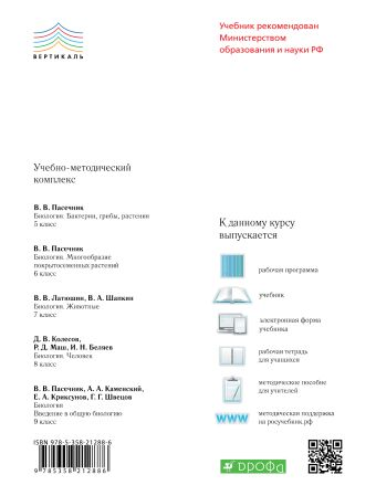 Биология. Человек.8 класс. Учебник. ВЕРТИКАЛЬ Колесов Д.В., Маш Р.Д., Сивоглазов В.И.