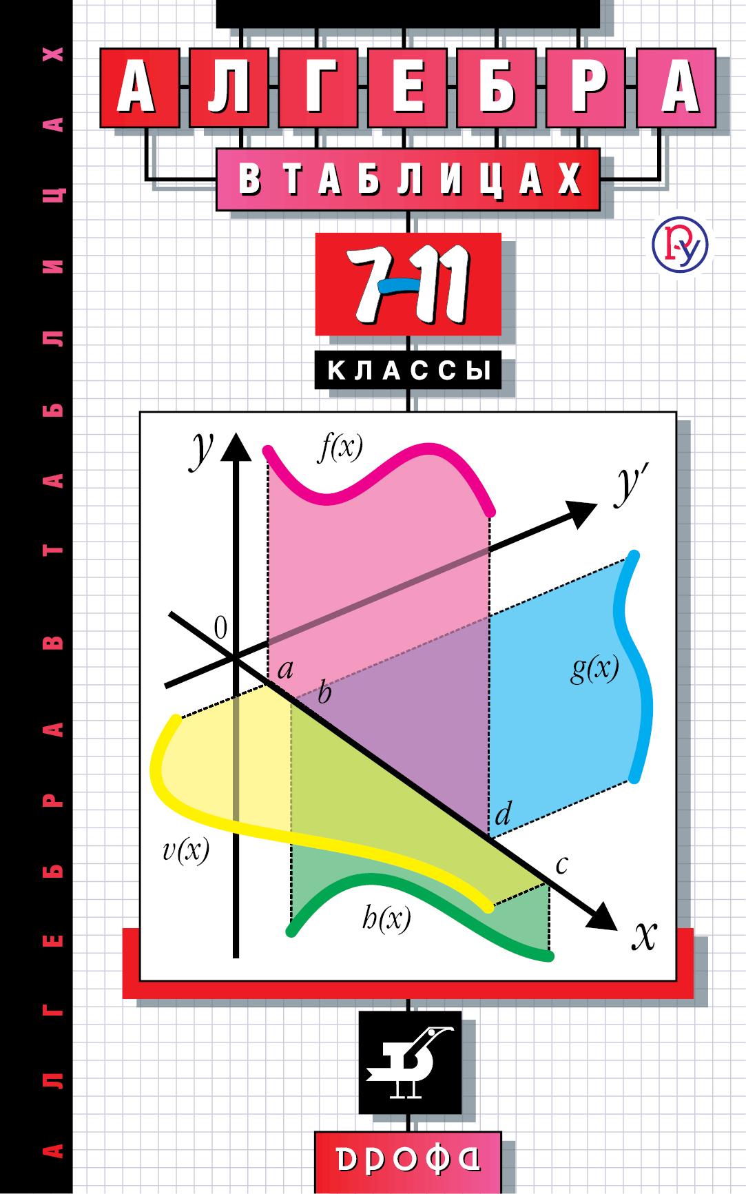 Алгебра в таблицах 7-11 класс справочное пособие (Звавич)