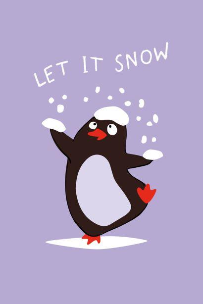 Let it snow (Софт-тач тетрадь) - фото 1
