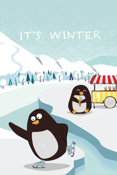 It's winter (Софт-тач тетрадь) - фото 1