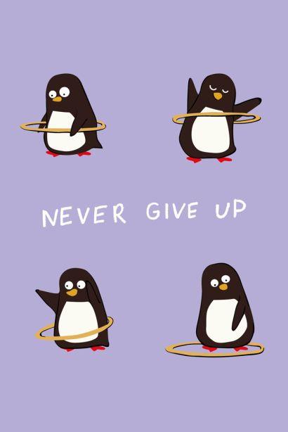 Never give up (Софт-тач тетрадь) - фото 1