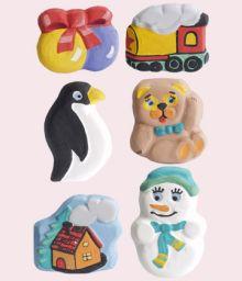 Ассорти с пингвином(домик,мишка,мячики,пингвин,паровоз,снеговик)