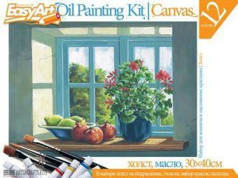 Набор для живописи масляными красками № 6 Цветы на окне