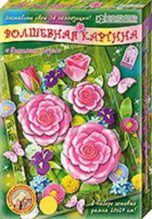 Пышные розы. Набор для изготовления картины