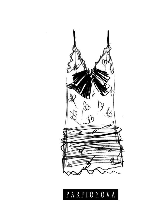 Парфенова Т.В. - Блокнот для записей «Мода. Платье» обложка книги