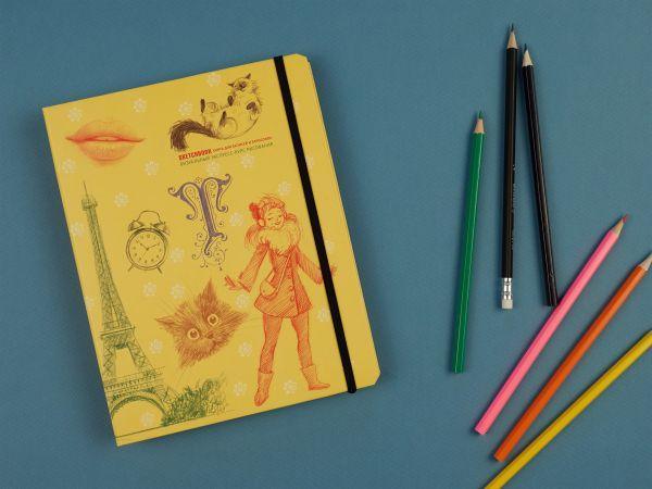 Фото - SketchBook: Визуальный экспресс-курс по рисованию (желтый) [1] дрюма л а скетчбук экспресс курс по рисованию открытый корешок обложка леттеринг