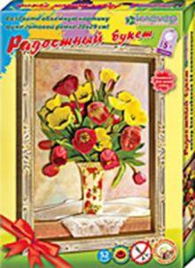 Радостный букет. (тюльпаны) Набор для изготовления картины