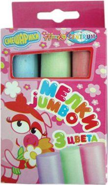 """Мелки цветные СМЕШАРИКИ """"JUMBO"""" 3 цвета в картонной коробке. 83982"""