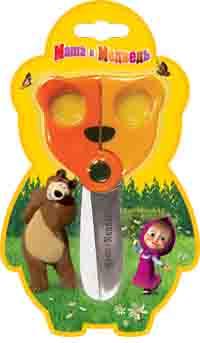 """Ножницы """"Мишка"""" 130 мм """"Маша и Медведь"""""""