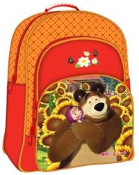 """Рюкзак """"Маша и Медведь"""" красно-оранж. облегч. EVA"""