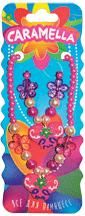 Набор украшений: бусы и браслет с цветочком и бабочками, розовый