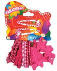 Набор аксессуаров для волос: 10 резинок, 2 заколки, розовый